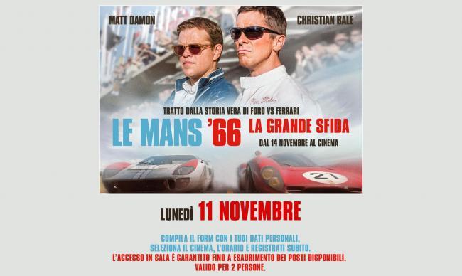 Le Mans 66: la grande sfida Un'anteprima adrenalica gratuita per i lettori di Sardegna Oggi